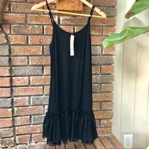 NWT ruffle black shirt or slip dress extender